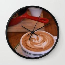 Caffe Macchiato with Breakfast - Cafe or Kitchen Decor Wall Clock
