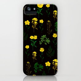 Yellow daisy pattern iPhone Case