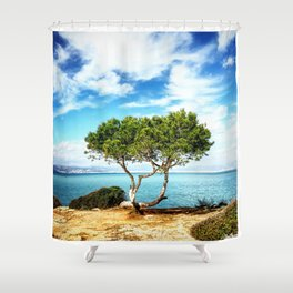 Tree in Focus Shower Curtain