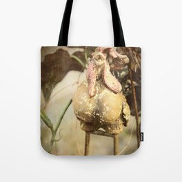 Grungy Rooster Tote Bag