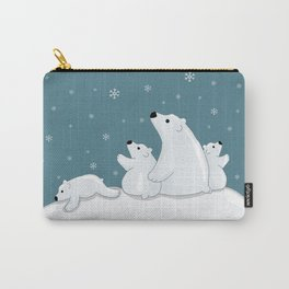 Polar Bear Family Carry-All Pouch