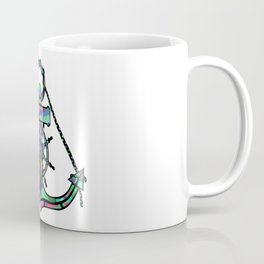 Anchor and Steering Helm [MultiColor] Coffee Mug