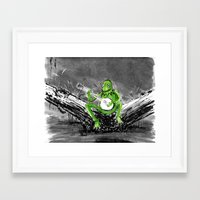 kermit Framed Art Prints featuring Kermit by Stewart Cook