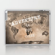 Adventure is out there. Stars world map. Sepia Laptop & iPad Skin