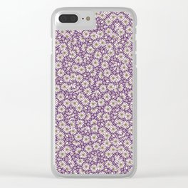 Ditsy Floral Pattern Clear iPhone Case