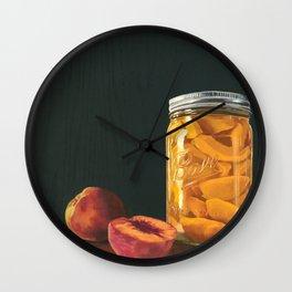 Mason Jar Peaches Wall Clock