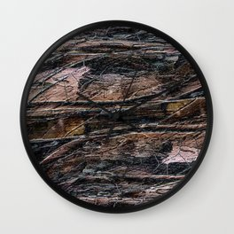 Rustic Cracked Paint Acrylic Abstract Wall Clock