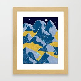 Say goodnight to the mountains Framed Art Print