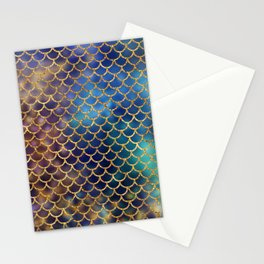 Bedazzled Mermaid Scales Stationery Cards