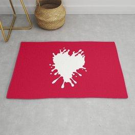 Splatter Heart Rug