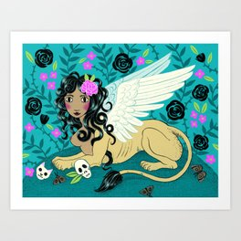 Night Sphinx Art Print