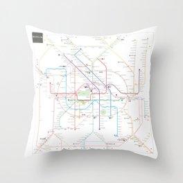 Germany Berlin Metro Bus U-bahn S-bahn map Throw Pillow