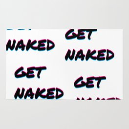 get naked color cool statement funny phrase gift idea bed pillow text love Rug