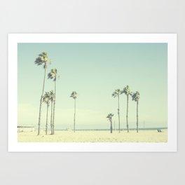 Venice Beach Palms  Art Print