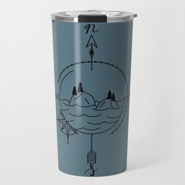 Finding Our Island - Blue Travel Mug