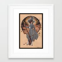 witch Framed Art Prints featuring Witch by Fyodor Pavlov