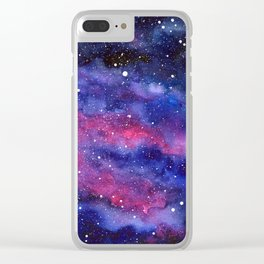 Nebula Galaxy Watercolor Space Sky Clear iPhone Case