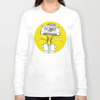 cassette Long Sleeve T-shirts featuring Cassette by Molly Yllom Shop