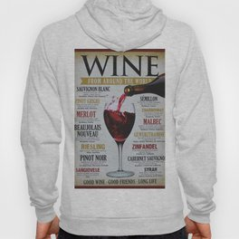Vintage Wines from around the world Wine Advertisement Wall Art Hoody