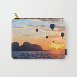 Hot air balloons at sunrise in Phang Nga Bay, Thailand Carry-All Pouch