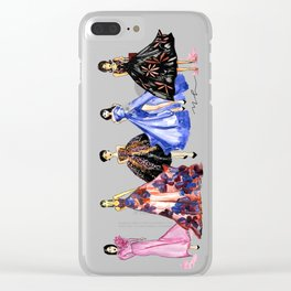 Designer Girls Clear iPhone Case