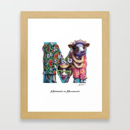 Moomoos in Muumuus Framed Art Print