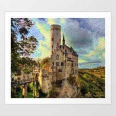 Castle on a beautiful sunset Art Print
