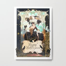 Halloween Masquarade Metal Print