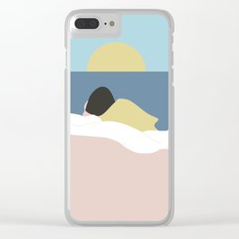 Feelings into sunset Clear iPhone Case
