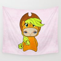 mlp Wall Tapestries featuring A Boy - Applejack by Christophe Chiozzi