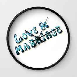 Love and Marriage Vector art Wall Clock