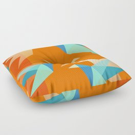 Orange Paper Cranes Floor Pillow