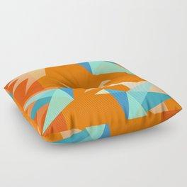Orange Paper Cranes Floor Pillow