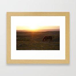 Ranch Sunset Framed Art Print