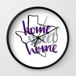 Home Sweet Home TCU Wall Clock