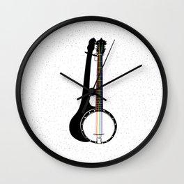 Pete's Rainbow String Banjo Wall Clock