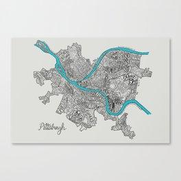 Pittsburgh Neighborhoods Canvas Print
