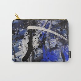 Abstract painting in blue Carry-All Pouch