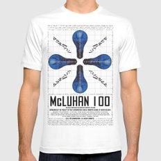 McLuhan 100  MEDIUM Mens Fitted Tee White