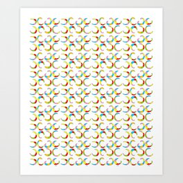 Multicolor moons-abstraction,abstract,geometric,geometrical,pattern,circle,sphere Art Print