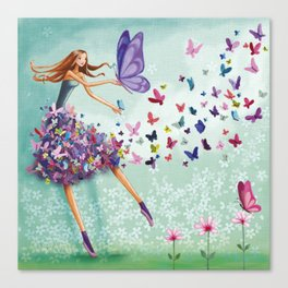 butterflydance Canvas Print