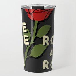 Grunge rock slogan print Travel Mug