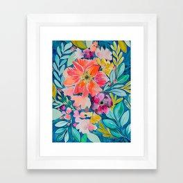 Frolicking Flowers Framed Art Print