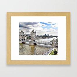 London Bridge Landscape Airbrush Artwork Framed Art Print