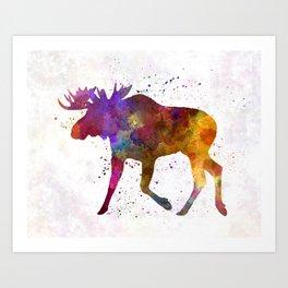 Moose 02 in watercolor Art Print