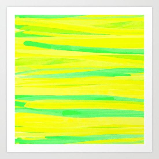 Strokes- Yellow Art Print
