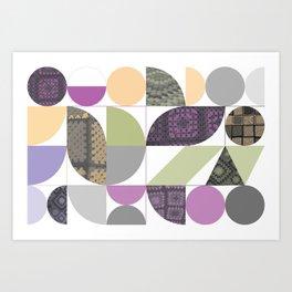 Geometric Nanna Blankie Art Print