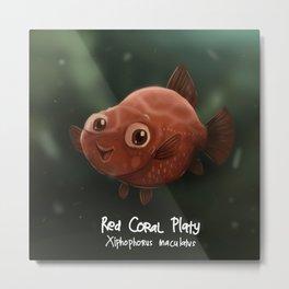 Red Coral Platy Fish Metal Print