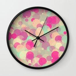 Colorful Bubbles 2 Wall Clock