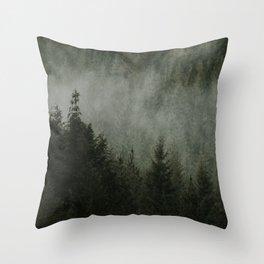 Evergreens Throw Pillow